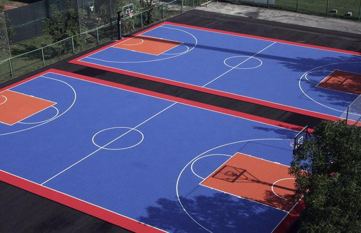 室外硅PU篮球场建设